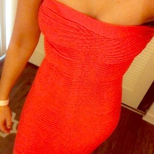 Neon pink bodycon dress